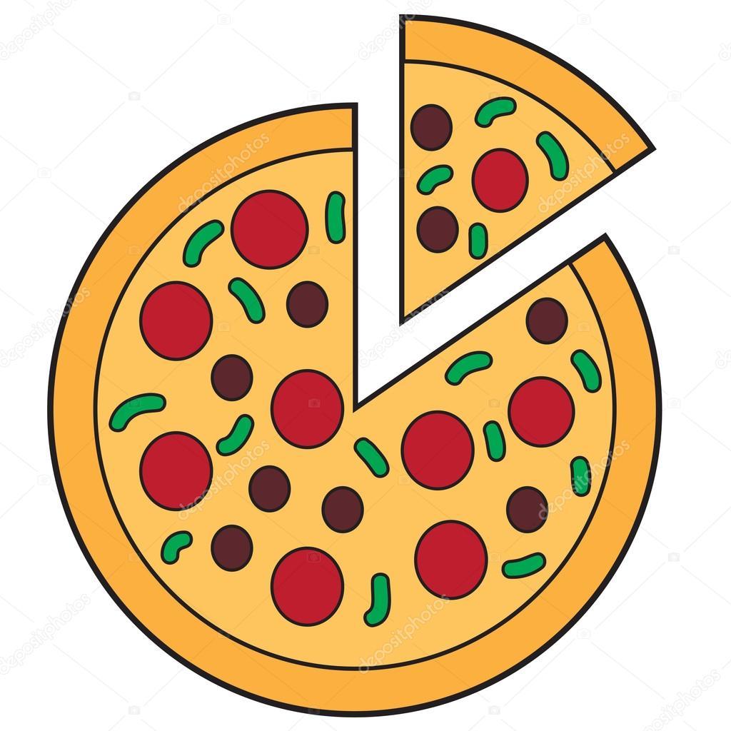 sliced pizza doodle stock vector airdone 118577808 rh depositphotos com pizza victoriei pizza victoria bc