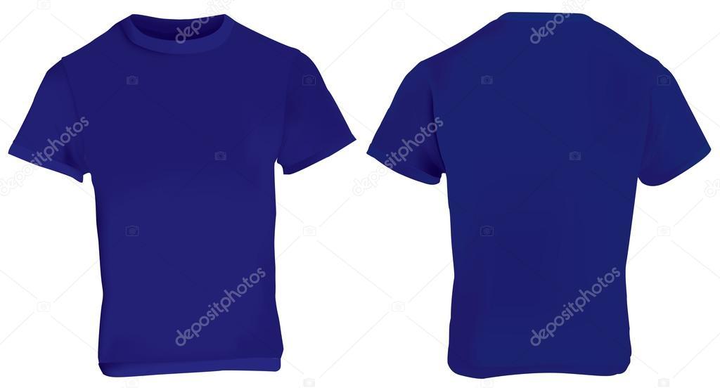 Modelo De Camisa Azul Escura Vetor De Stock Airdone