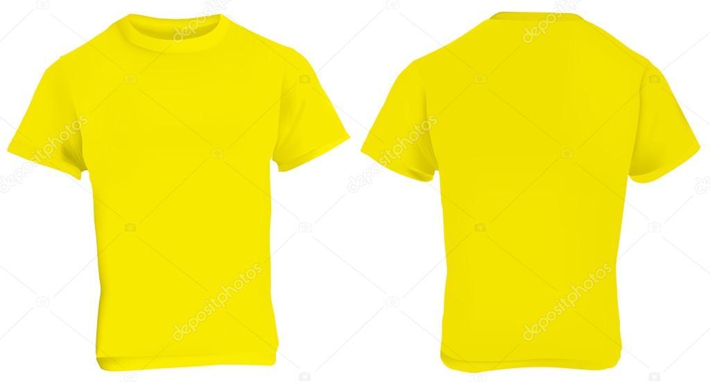 Plantilla de camiseta amarilla — Archivo Imágenes Vectoriales ...
