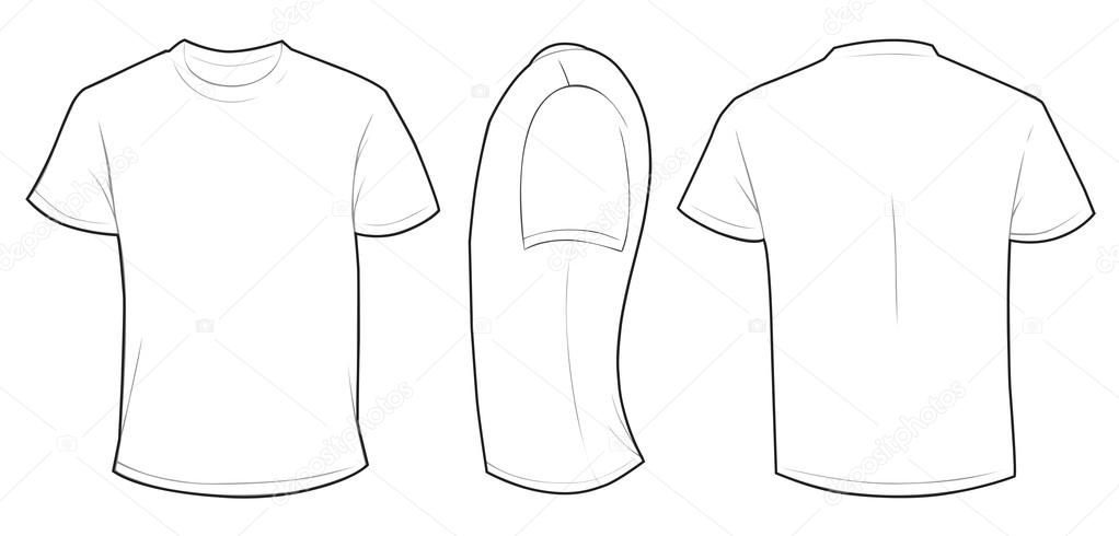 white shirt template stock vector airdone 119781360