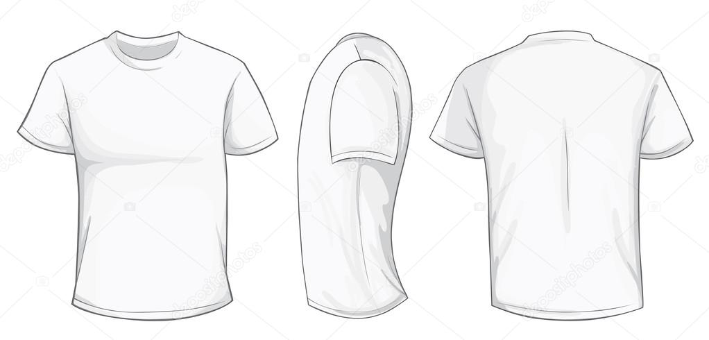 7d5918d15e5d6 modelo de camisa branca — Vetor de Stock © airdone  119781426