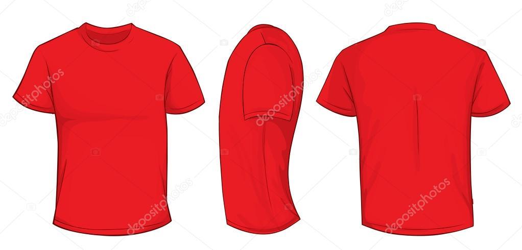 Modelo de camisa vermelha vetor de stock airdone for Navy blue t shirt template