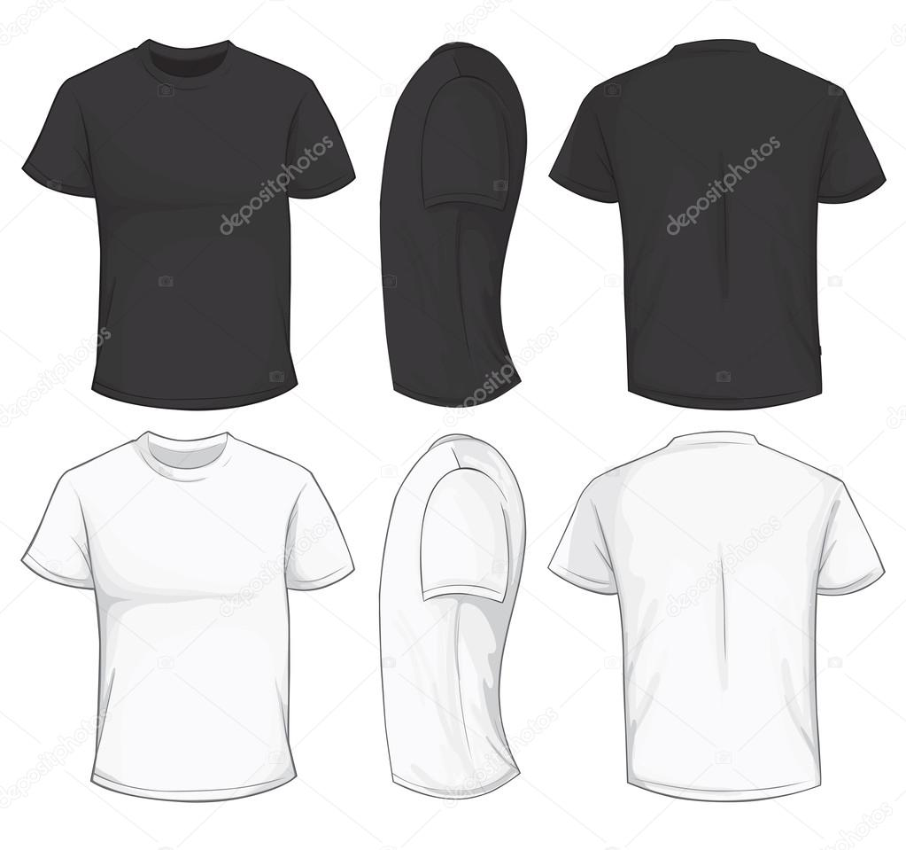Black And White T Shirt Template Stock Vector Airdone 119840532