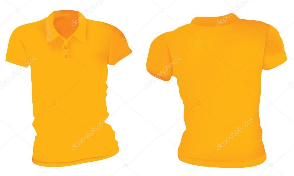 096a215037 Nők narancssárga póló ing sablon — Stock Vektor © airdone #122865516
