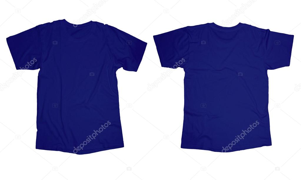 Plain Navy Blue T Shirt Front And Back Blue T Shirt