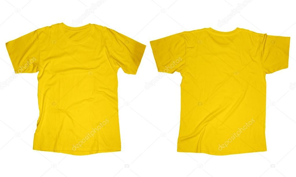 plantilla de camiseta amarilla — Foto de stock © airdone #52849335
