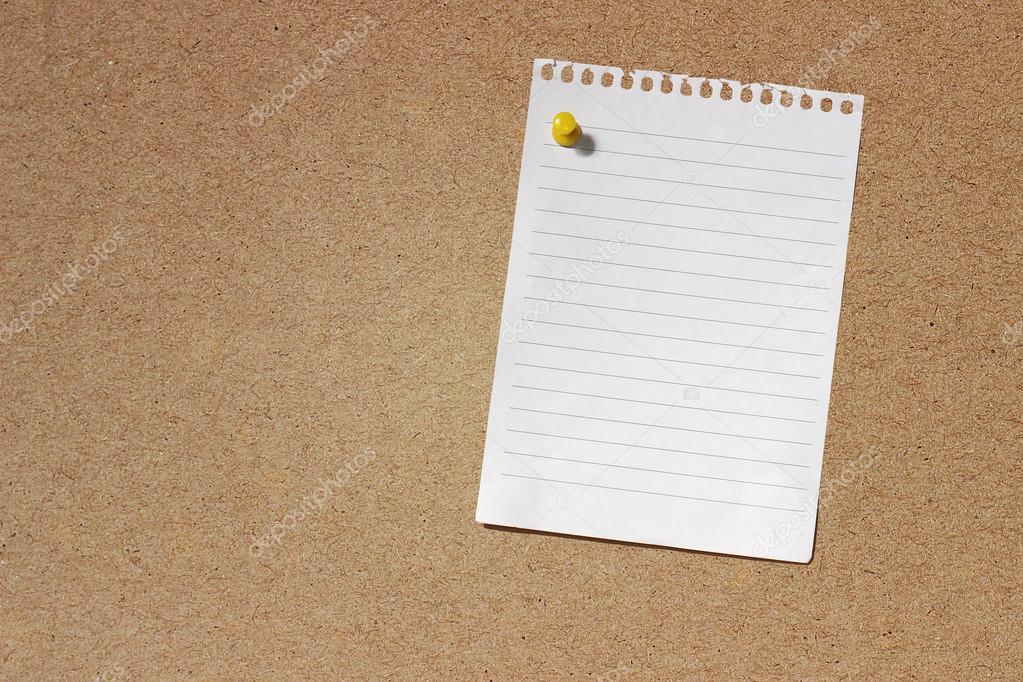 Leere Hinweis Papier Vorlage — Stockfoto © airdone #58142149