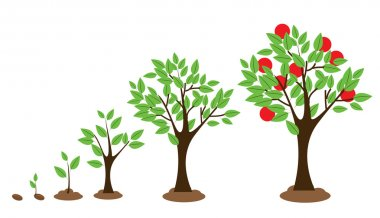 "Картина, постер, плакат, фотообои ""рост деревьев "", артикул 69964191"