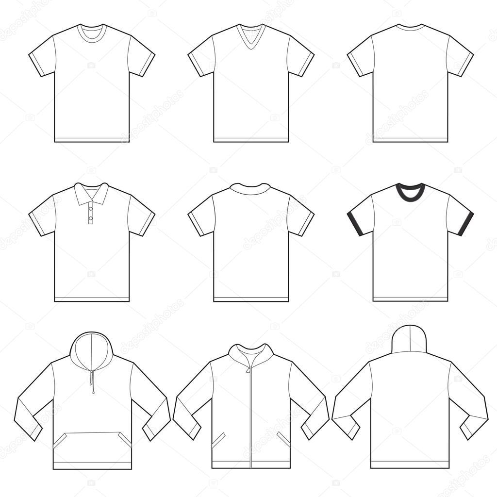 Διανυσματικά εικονογράφηση του προτύπου λευκά πουκάμισα σε πολλή παραλλαγή 8278dcaf9cc