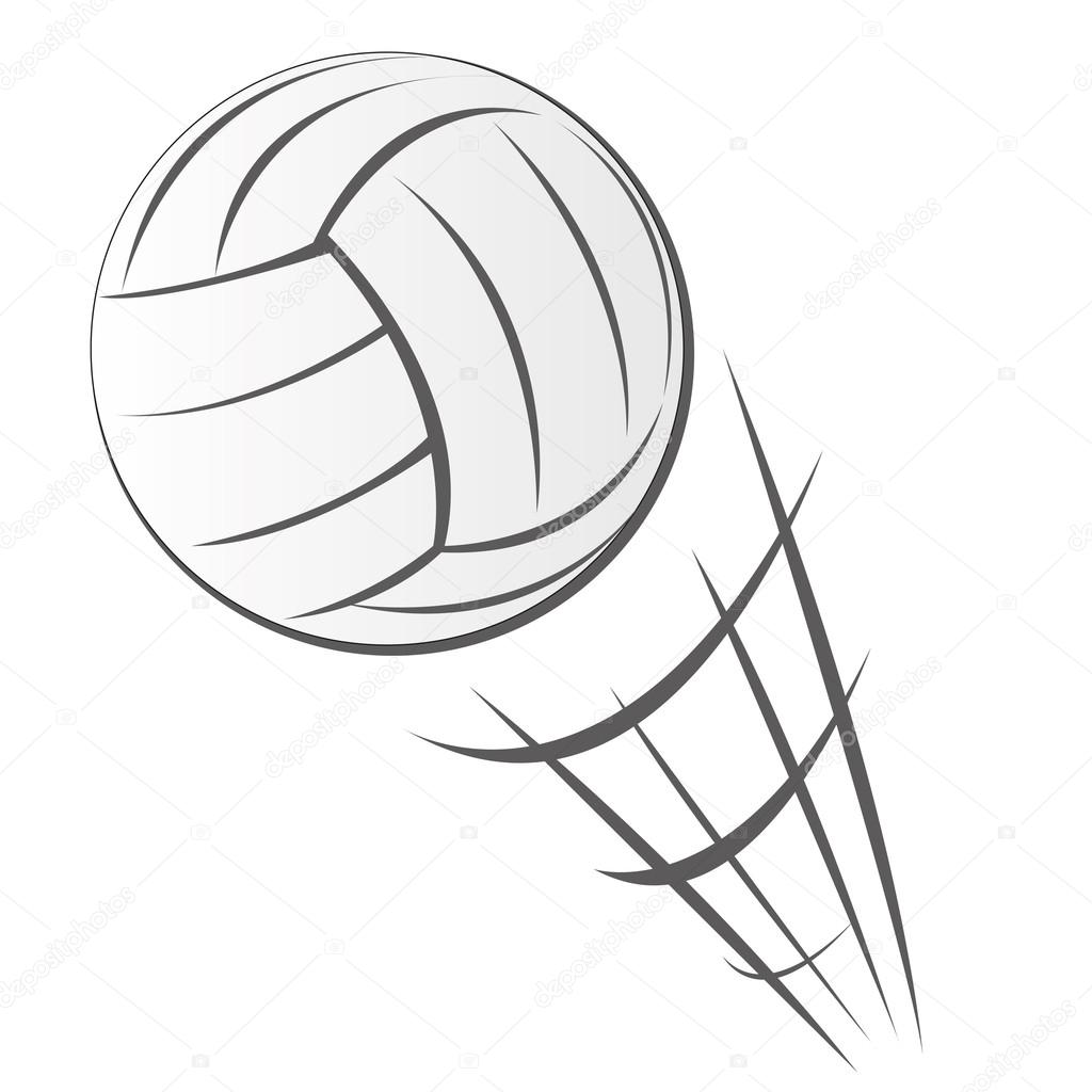 speeding volleyball motion u2014 stock vector airdone 75873109