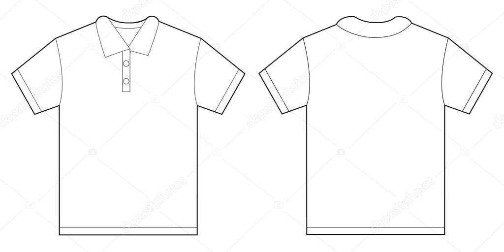 7825492904e95 Modelo de Design branco camisa Polo para homens — Vetores de Stock ...