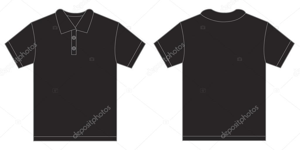 Black Polo Shirt Design Template For Men Stock Vector