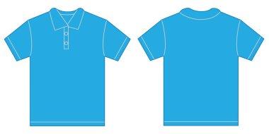 Light Blue Polo Shirt Design Template For Men