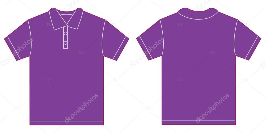 Purple polo shirt design template for men stock vector for Polo shirt design template
