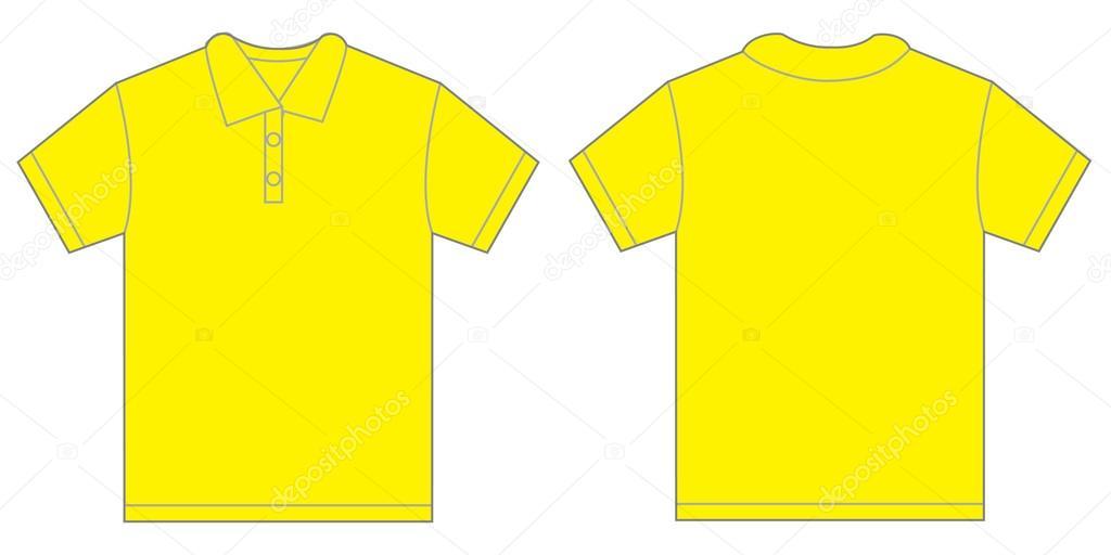 Modelo de Design pólo amarelo para homens — Vetores de ...