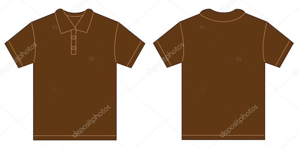 f9c0935bbf Barna póló ing tervezősablon férfiaknak — Stock Vektor © airdone ...
