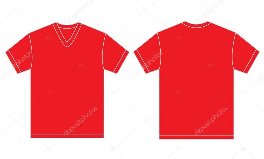 riserva il per di rossa a gli V di con uominiimmagini collo Maglietta modello progettazione del gyYb76f