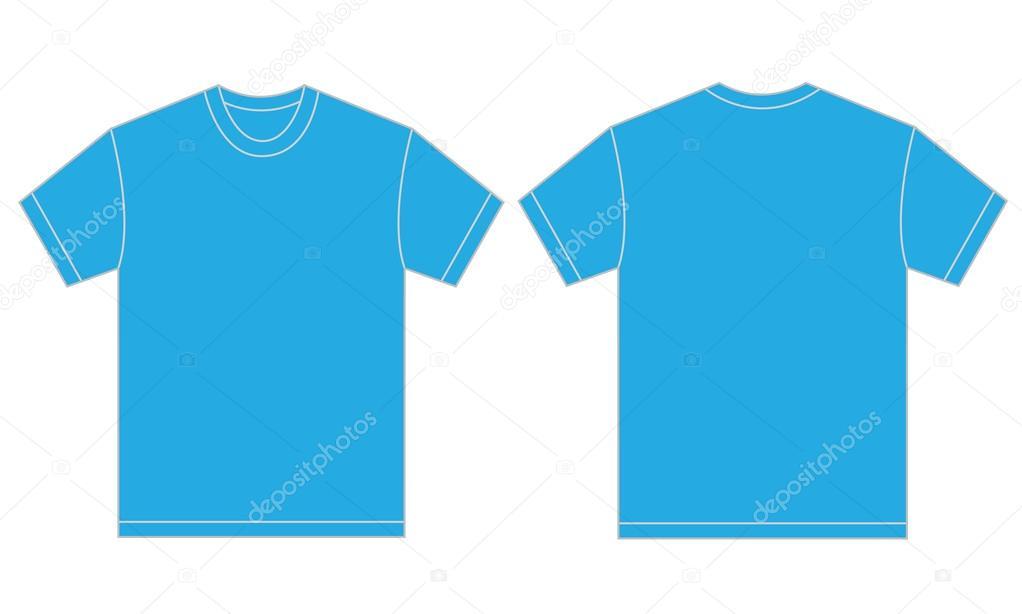 Sky Blue T Shirt Design