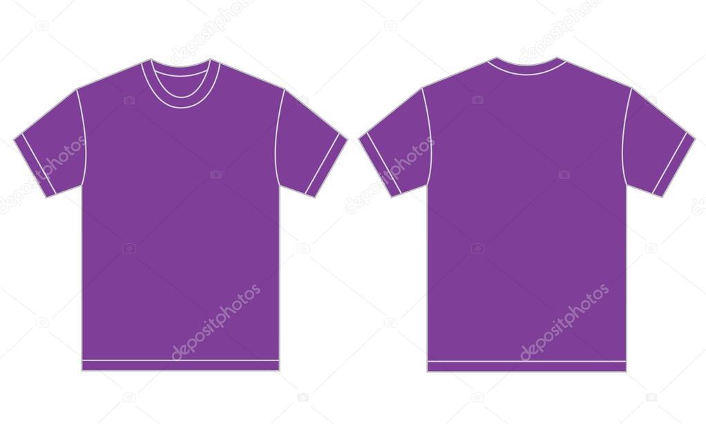 Plantilla de diseño de la camiseta morada para los hombres — Vector de stock 6eb00bffcfd