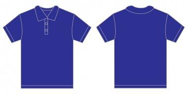 Blue Polo Shirt Design Template For Men