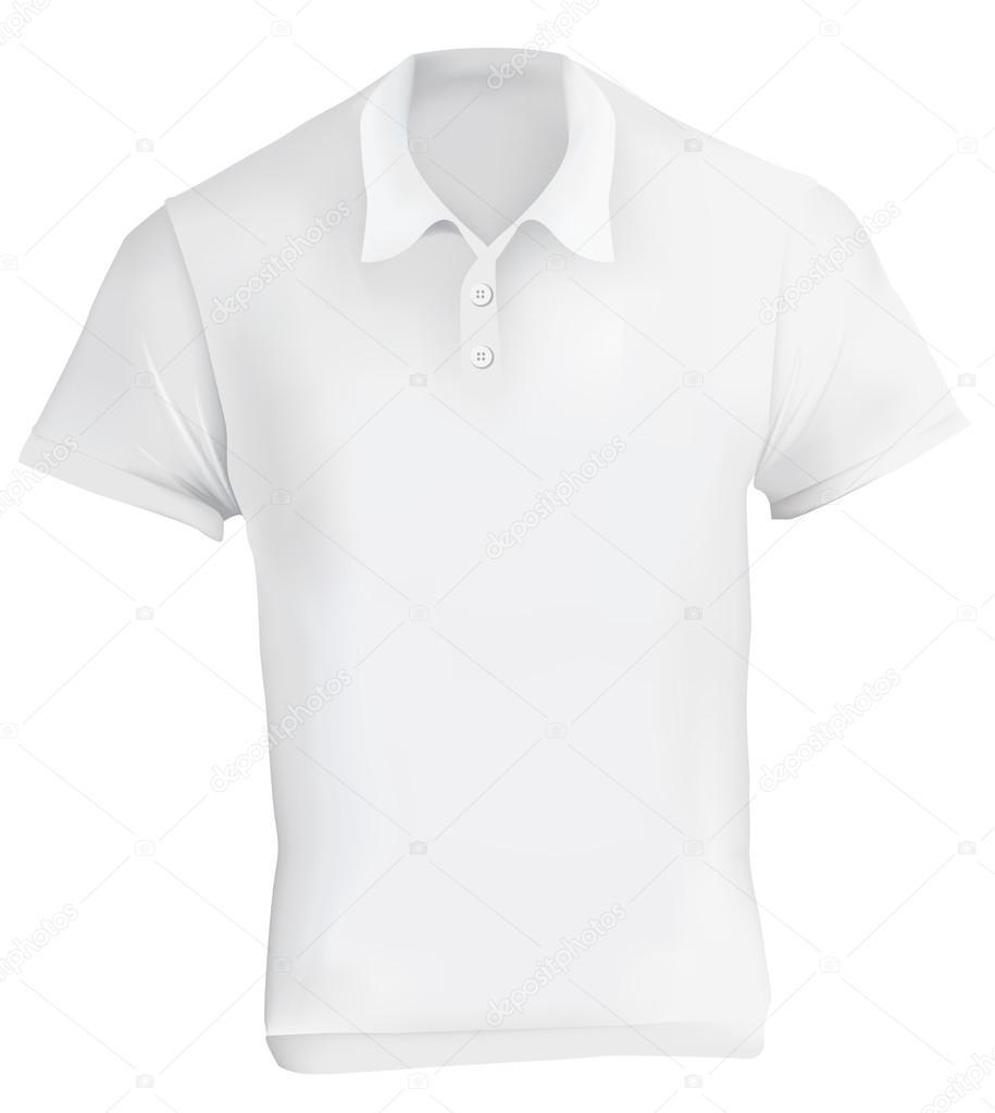 ff7008a4a7833 Plantilla de diseño de la camisa de Polo blanca — Vector de stock