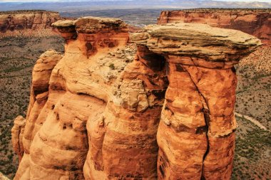 Rock formations in Colorado National Monument, Grand Junction, USA