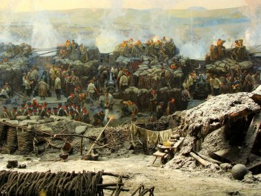 Section of the Siege of Sevastopol panorama, Defence of Sevastop