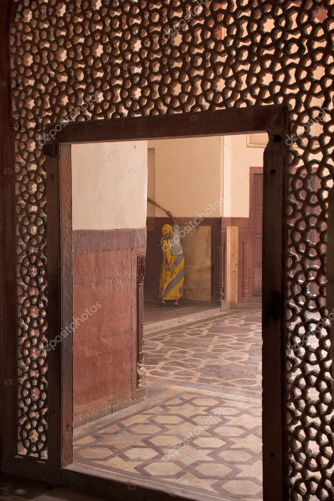 Innenraum des Humayun Mausoleum, Delhi, Indien — Stockfoto ...