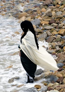 Traditional clothed muslim woman