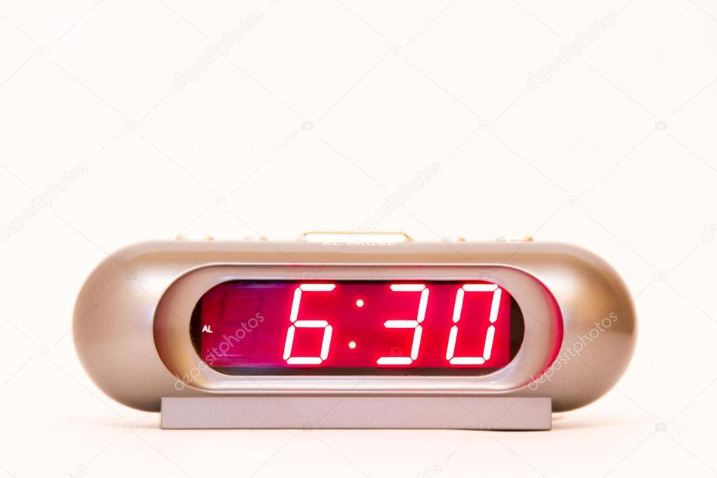 Digital Watch 6:30 — Stock Photo