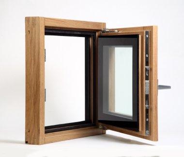 wooden window open