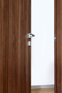 colored wooden door open c