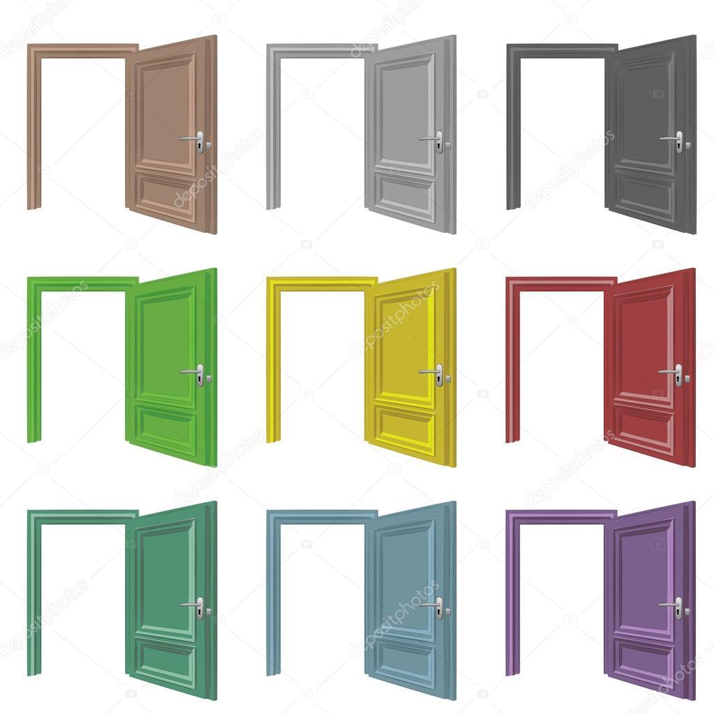Porte isol e ouvrir jeu de dessins couleur image for Porte ouverte dessin