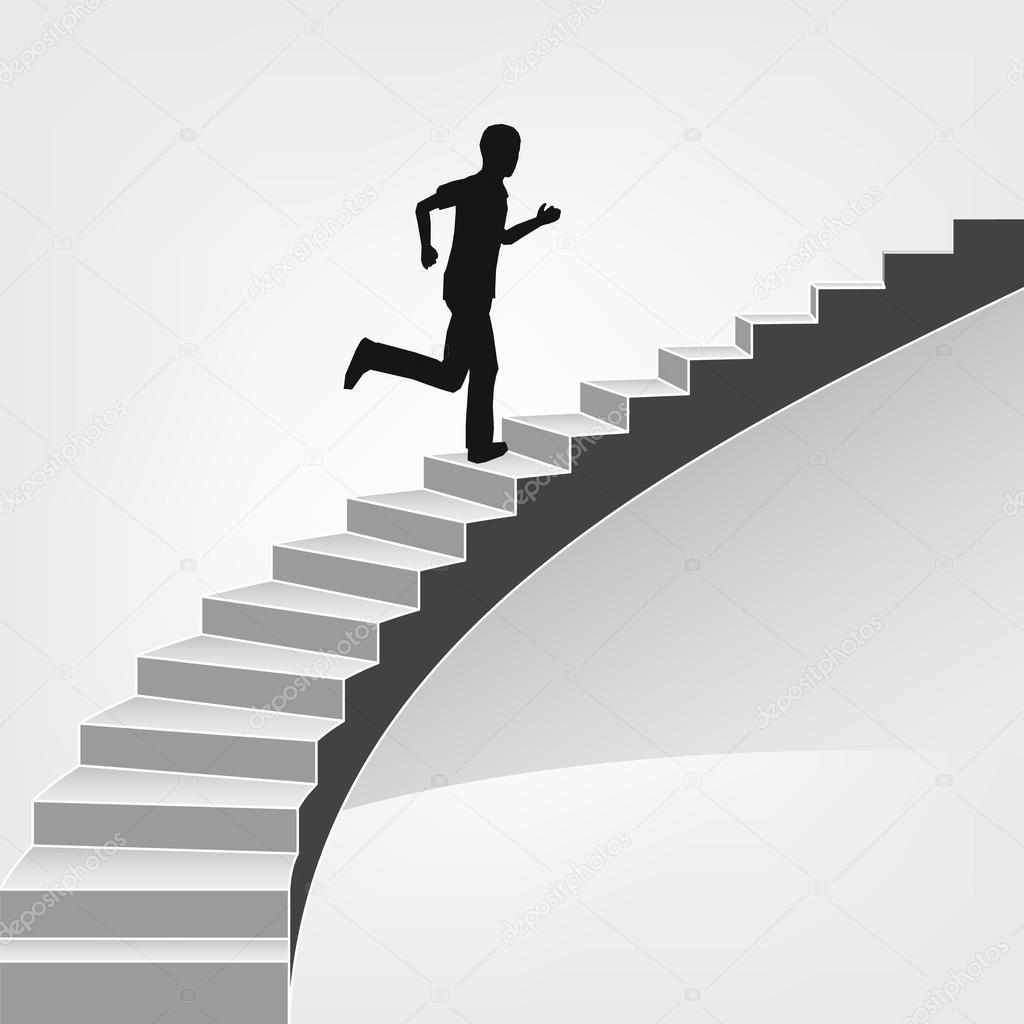 Hombre subiendo por la escalera de caracol archivo - Cerrar escalera caracol ...