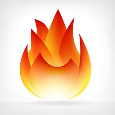 burning fire flame vector element