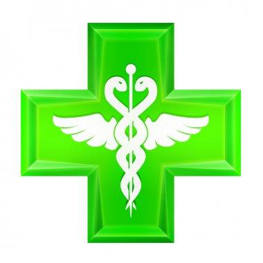 green health cross icon isolated