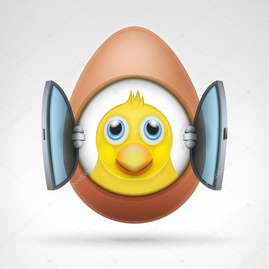 hübsch Huhn Kopf — Stockvektor © Adikk #67847903