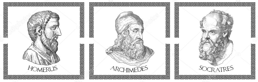 Citaten Griekse Filosofen : Oude griekse filosofen — stockfoto pavila
