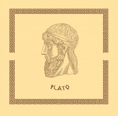Old greek philosopher Plato