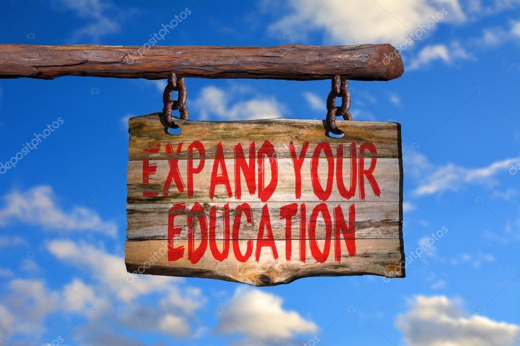 Expandir O Seu Sinal De Frase Motivacional De Educação