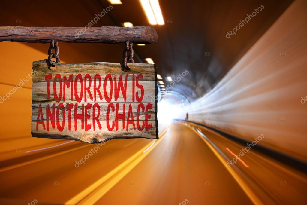 Amanhã é Um Outro Sinal De Frase Motivacional De