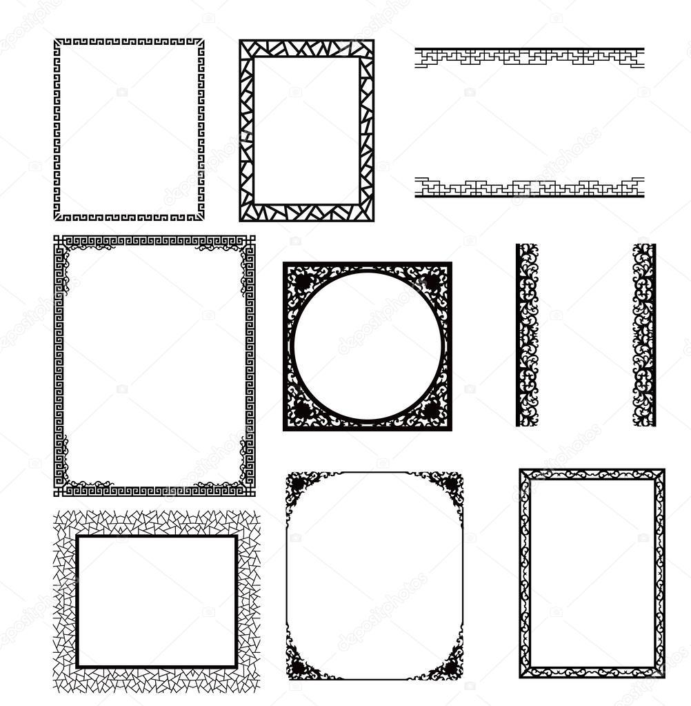 marco asiático — Archivo Imágenes Vectoriales © baoyan #56509595