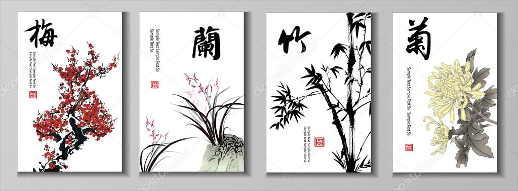 Chinese painting set.