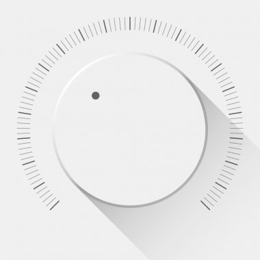 White Technology Music Button with Volume Knob