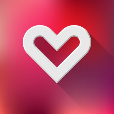 White abstract Valentine's heart sign