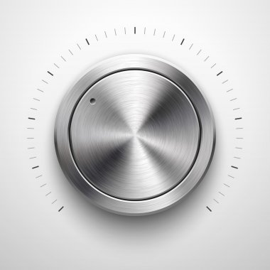 Abstract Technology Volume Knob with Metal Texture