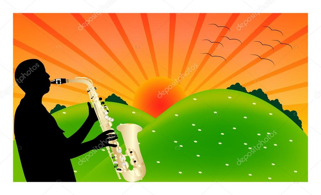 Saxophone and nature