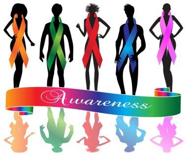 Awareness ribbons people