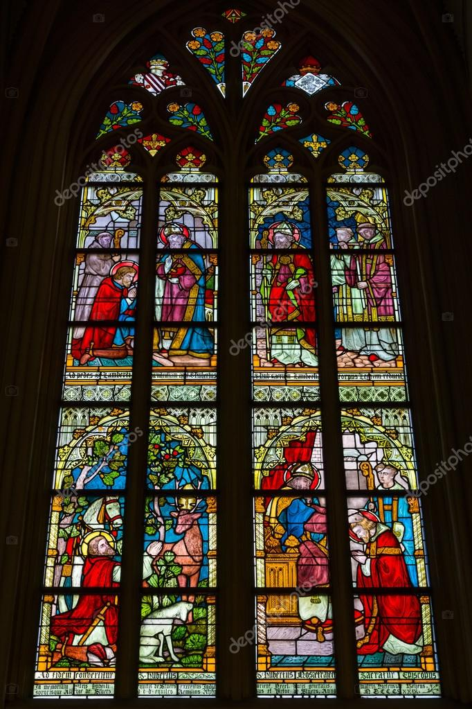 Stained Glass Windows Of Basilica Of Saint Servatius The Oldest