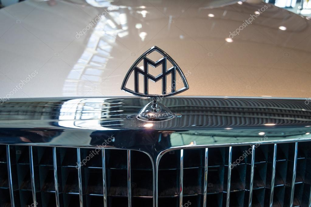Hood Ornament Of Full Size Luxury Car Maybach 57s 2006 Stock